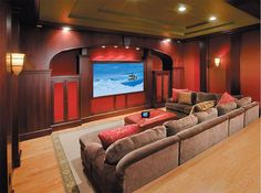 Basement Home Theater Ideas DIY Small Spaces Budget Medium Inspiration