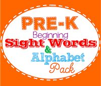 Dolch Fry sight words alphabet pack pre-k kindergarten homeschool preschool
