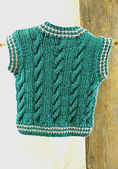 Ravelry: Keene Toddler Vest pattern by Marilyn Losee Baby Boy Knitting Patterns, Knitting Designs, Toddler Vest, Knit Vest Pattern, Knitted Baby Cardigan, Baby Vest, Easy Knitting, Knit Crochet, Crotchet