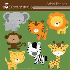 Safari Animals Personal and Commercial Use Clipart Set  - Instant Download  THIS IS A GOOD ONE, with EPS files