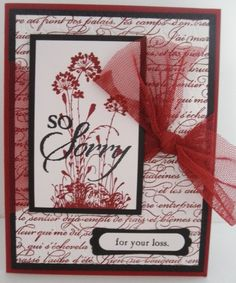 Handmade sympathy card using Serene Silhouettes stamp set by Stampin' Up! Cricut Cards, Stampin Up Cards, Sympathy Card Sayings, Scrapbook Cards, Scrapbooking, Embossed Cards, Get Well Cards, Serene Silhouettes, Love Cards