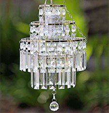 Battery Operated LED Crystal Pendant Chandelier - for inside tent Pendant Chandelier, Crystal Pendant, Chandelier Tree, Nursery Chandelier, Go Glamping, Glam Camping, Camping Ideas, Outdoor Dinner Parties, Outdoor Entertaining