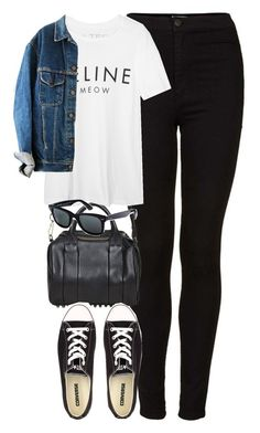 """""""Untitled #1826"""" by hiitsbre ❤ liked on Polyvore featuring Topshop, Alexander Wang, Brian Lichtenberg, Converse and Ray-Ban"""