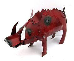 "Razorback Drawings | Yard Art Razorback Pig Metal Sculpture Hog Figure 10 1 2"" | eBay"