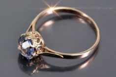 VRAX366 Russian Rose Gold Alexandrite Ring 14kt Sickle Hammer Vintage Original | eBay