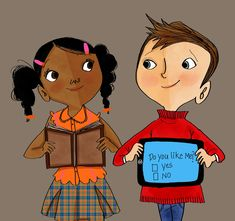 First Crushes Are The Best! Work by: Vanessa Brantley Newton Do you like me? Cute illustrations