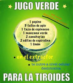 Jugo verde para la tiroides