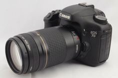 #16503  Canon EOS 7D DOUBLE ZOOM SET Very Good Condition Japan Import F/S GIFT #Canon