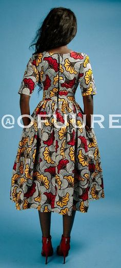 The NIKE dress * end of year clearance*. V neck African print midi dress with 3/4 sleeve, fully lined with 2 side pockets and back zip. Made with 100% cotton high quality African print wax fabric and 100% cotton lining. Ankara | Dutch wax | Kente | Kitenge | Dashiki | African print dress | African fashion | African women dresses | African prints | Nigerian style | Ghanaian fashion | Senegal fashion | Kenya fashion | Nigerian fashion (affiliate)