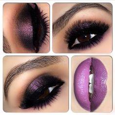 <3 maquillaje violeta perfecto para damas de honor
