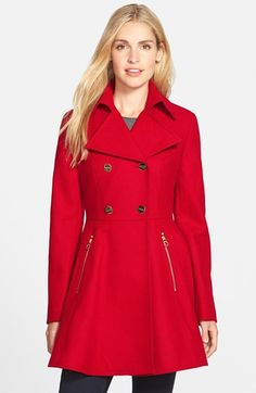 Laundry by ShelliSegalDouble Breasted Fit & Flare Coat (Regular & Petite) available at #Nordstrom
