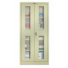Hallowell 400 Series 2 Door Storage Cabinet Color: Parchment