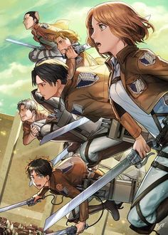 Livai Squad / Survey Corps❤ Shingeki no Kyojin ~ Attack on Titan Mikasa, Attack On Titan, Fanart, Manga Anime, Aot Anime, Anime Art, Manga Art, Levi Squad, Illustration Manga