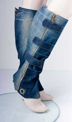 Gsus_slow fashion_movement | Chaps Recycled Dress, Recycled Denim, Denim Crafts, Maxi Robes, Old Jeans, Jeans Denim, Skinny Jeans, Jeans Stiefel, Jeans Button