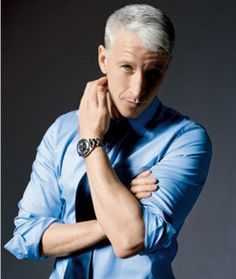 Anderson Cooper,  my ideal. Not only intelligent but loving. Keeping honest with informative sexy brain.