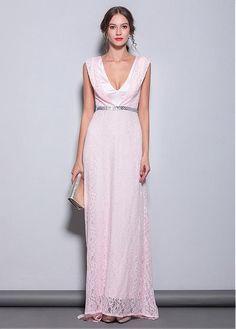 11b5c34eaf3 Brilliant V-neck Neckline Sheath Column Evening Dresses Prom Dresses 2019. Custom  Made ...