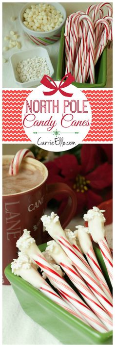 These North Pole Candy Canes are easy to make, and a perfect activity for the kids. #shop #NorthpoleFun