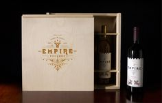 Empire Vineyards identity and package design created by Fred Carriedo