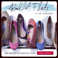 Toms ballet flats -- so excited! #shoes