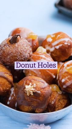 Fun Baking Recipes, Donut Recipes, Sweet Recipes, Cooking Recipes, Yummy Snacks, Delicious Desserts, Yummy Food, Tasty, Köstliche Desserts