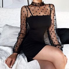 Edgy Outfits, Cute Casual Outfits, Pretty Outfits, Cute Outfits For Dates, Style Feminin, Bag Women, Sexy Party Dress, Party Dresses For Women, Long Sleeve Mini Dress