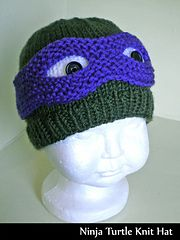 2e0cc2df297 Ninja Turtle Knit Hat pattern by Aunt Janet s Designs. Ravelry
