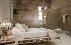 Łóżko z drewnianych palet!   Architekt na obcasach