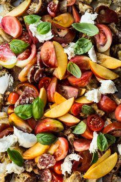 Peach and Tomato Panzanella | Cup of Jo x Local Haven | @joannagoddard @localhaven