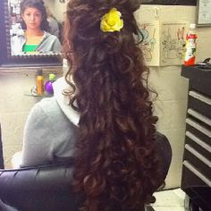 Long hair style Christina