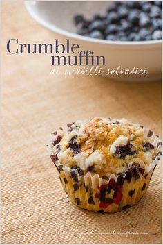 Crumble muffin ai mirtilli - Blueberry crumble muffin