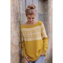 PAULINE Gullgul Sweater Knitting Patterns, Crochet, Knitwear, Pullover, Denim, My Style, Sweaters, Stitches, Crafts