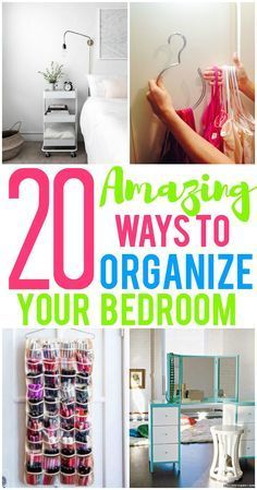 20 Amazing Organization Hacks That Will Transform Your Bedroom Printables To Help You Organize! 20 Amazing Organization Hacks That Will Transform Your BedroomThis Post May Contain Affiliate Links. Organizing Hacks, Home Organization Hacks, Organizing Your Home, Bathroom Organization, Cleaning Hacks, Organising, Teen Closet Organization, Hacks Diy, Master Closet