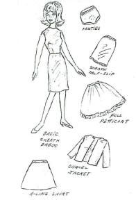 Free printable classic doll clothes patterns. Make an entire wardrobe for a special girl's Barbie dolls.