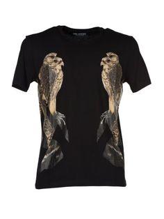 NEIL BARRETT Neil Barret Bird Print T-shirt. #neilbarrett #cloth #topwear