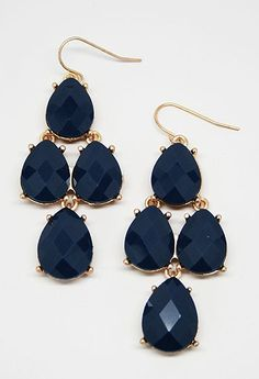 Faceted Teardrop Cluster Earring - Additional Colors Available #PrivateGallery #PGWishList