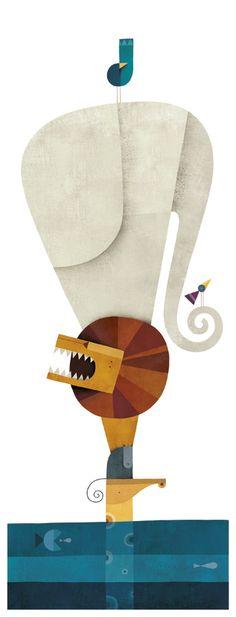 El arca de Noé by martin leon barreto, via Behance