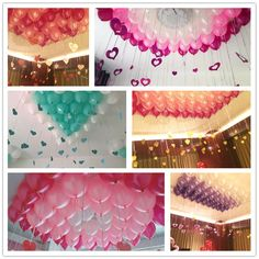 CCINEE Wedding Decoration Balloons Set Tassel Heart Sequins Wedding House Decoration Valentine Wedding Party Supplies 10'' Balon #Affiliate