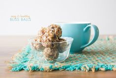 4 ingredient bliss balls from Fat mum slim How To Eat Paleo, Food To Make, Fat Mum Slim, Biscuits, Dairy Free Snacks, Easy Lunch Boxes, Bliss Balls, High Protein Snacks, Protein Ball