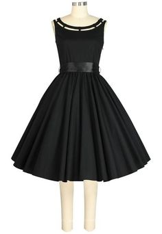 Pin Up Dresses | Pin Up Clothing Boat Neck Cutout Dress $48.95 AT vintagedancer.com