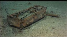 A suitcase lying in the Titanic's debris field.