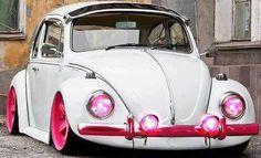 Custom Vw Bug, Vw Beetles, Camper Van, Old School, Bugs, Volkswagen, Car, Vehicles, Beetle Car
