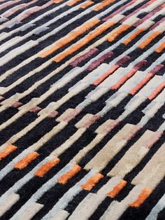 The detail of FRONT handtufted rug in NZ wool and bamboo viscose. The design is inspired by the optical experiments of Israeli artist Yaacov Agam (b. and American artist Ricard Anuszkiewicz (b. Yaacov Agam, American Artists, Bauhaus, Texture, Pattern, Bamboo, Rug, Color, Inspiration