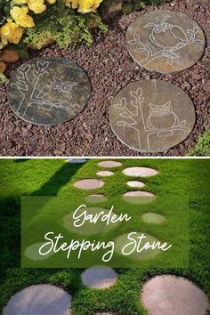 New Garden Stepping Ideas #gardenrocks Garden Steps, Easy Garden, Garden Paths, Landscaping Tips, Garden Landscaping, Amazing Gardens, Beautiful Gardens, Wooden Arbor, Garden Stepping Stones