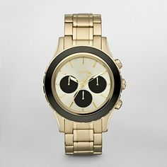 DKNY Watch, Gold Tone Black Chronograph Watch NY8656   WatchStation®
