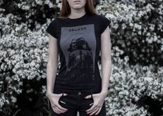 Image of 'Mélas|Khōlé' Tee-Shirt (Black) [Men + Girlie]