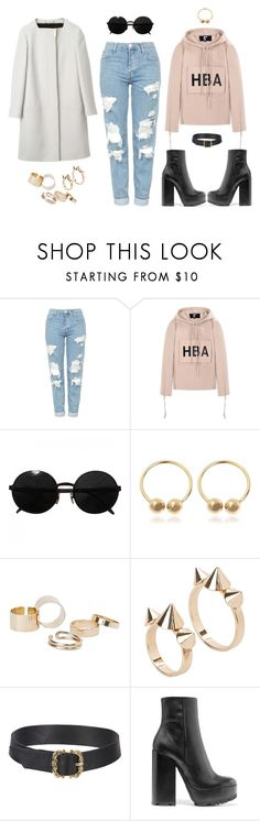 """Babit"" by huntersafeandsound ❤ liked on Polyvore featuring Gucci, Topshop, Hood by Air, Versace, J.W. Anderson, MANGO and Jil Sander"