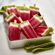 Watermelon Board | Layered Watermelon Popsicles