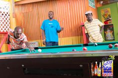 Tourist can enjoy a game of pool with the locals at one of the stops on our tour.  Strictly Bajan Rum Shop Tours is A Food, Rum & Culture Tour, Promoting Barbados, Supporting & Working to Save Our Rum Shops, their Cultural Input & Heritage.  ‪#‎strictlybajanrumshoptours‬ ‪#‎rum‬ ‪#‎food‬ ‪#‎culture‬ ‪#‎heritage‬ ‪#‎tour‬ connecting ‪#‎tourism‬ with ‪#‎bajan‬ ‪#‎traditions‬ ‪#‎ArtofBartendinSeminars‬ ‪#‎Bartending‬ ‪#‎Cocktails‬   Tel: 1 246 844 7008 Email: strictlybajanrumshoptours@gmail.com