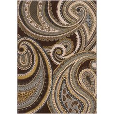 @Overstock.com - Woven Conroe Paisley Floral Rug (6'7 x 9'6) - Woven from 100-percent polypropylene this rug features a contemporary paisley design with a medium pile. This rug is available in vibrant color palettes.  http://www.overstock.com/Home-Garden/Woven-Conroe-Paisley-Floral-Rug-67-x-96/7485046/product.html?CID=214117 $214.99