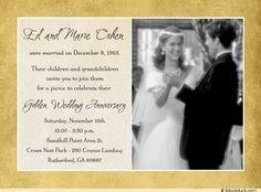 50th wedding anniversary invitations - Google Search